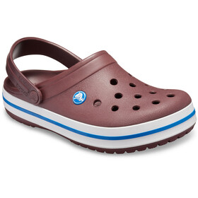 Crocs Crocband Clogs zoccoli, burgundy/white